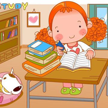 幼儿向老师问好卡通